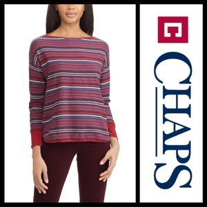 🆕 ➕Chaps 2X Red/Blue Striped Top Host Pick 7/20!